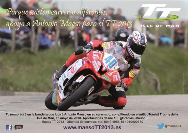 Antonio Maeso volverá a la Isla de Man en 2013