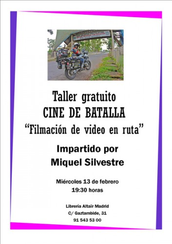 Taller de Filmación en Viaje de Miquel Silvestre, en Altaïr