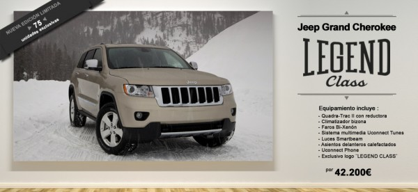 """Jeep Grand Cherokee """"Legend Class"""": 20 aniversario de una leyenda."""