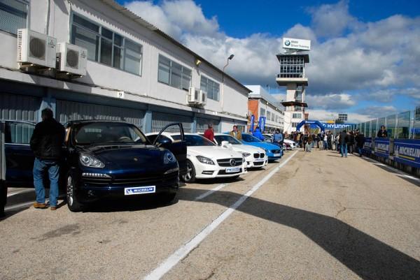 Michelin y la seguridad vial. Michelín reúne a 11 campeones de España de rallys en el circuito del Jarama
