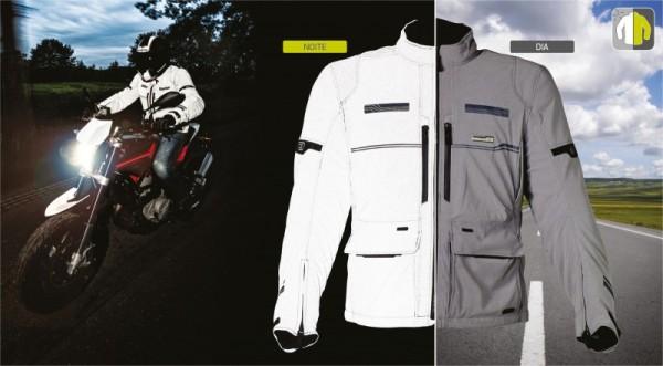 La nueva chaqueta Macna da un paso de gigante en visibilidad nocturna para motoristas