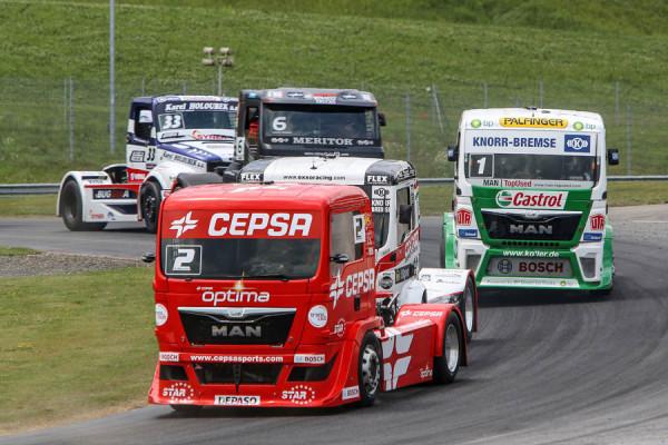 Campeonato de Europa FIA de Carreras de Camiones 2103. GP Austria.  Antonio Albacete líder tras un exitoso fin de semana